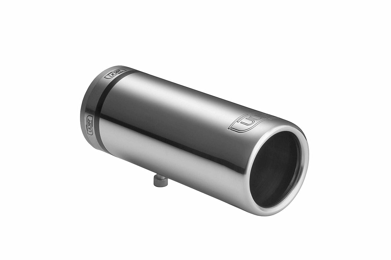 CARTUNER® Auspuffblende 60mm Endrohr rund Edelstahl in Sportauspuff Optik Universal passend f. Auspuffrohr 30-50mm