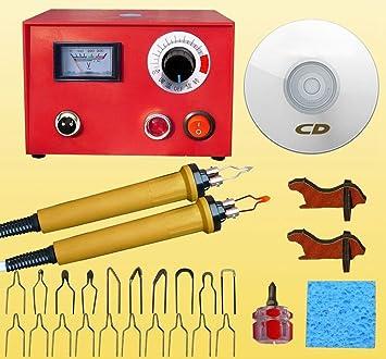 JIAN YA NA Máquina de Pirograbado 50 W 220 V Portable Craft Quema de Madera Talla