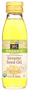 365 by Whole Foods Market, Organic Expeller Pressed Cooking Oi - Unrefined, Sesame Seed, 8.4 Fl Oz