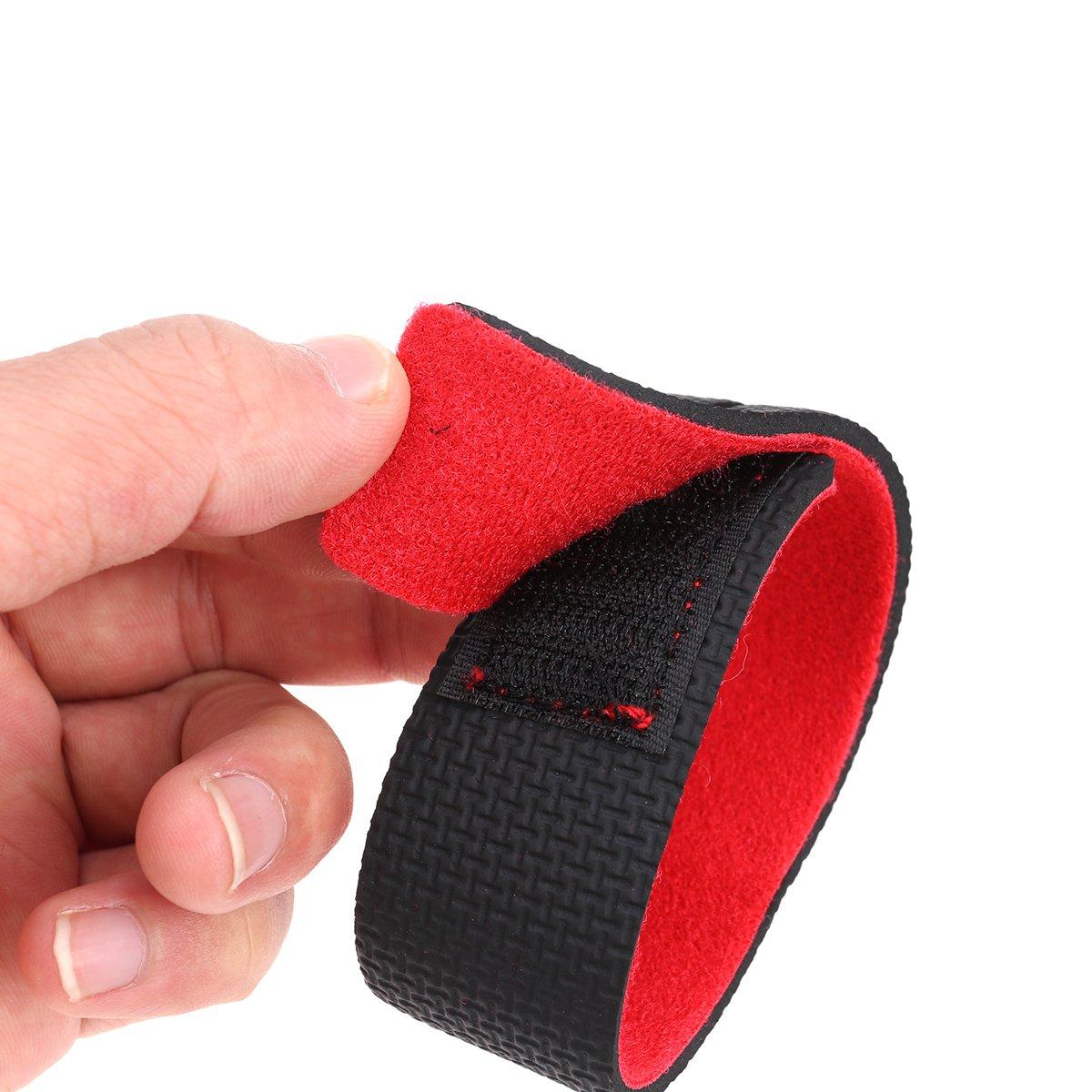 VORCOOL 6 Pcs Canne /à P/êche Ceintures C/âble Cravate Courroie Adh/ésif Anti-D/érapant Sangles Dispositif de Fixation Canne /à P/êche Bandage luminaire 2 Rouge, 2 Bleu et 2 Noir