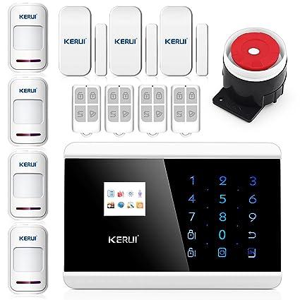 KERUI Android App Control inalámbrico teclado táctil GSM SMS sistema de alarma de seguridad para el