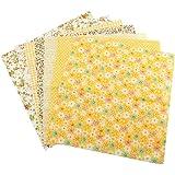 TOPINCN Tela de algodón Surtido Cuadrados precortados Suite Cuartos Paquete DIY Costura Scrapbooking Acolchar Set 7pcs 50 * 5