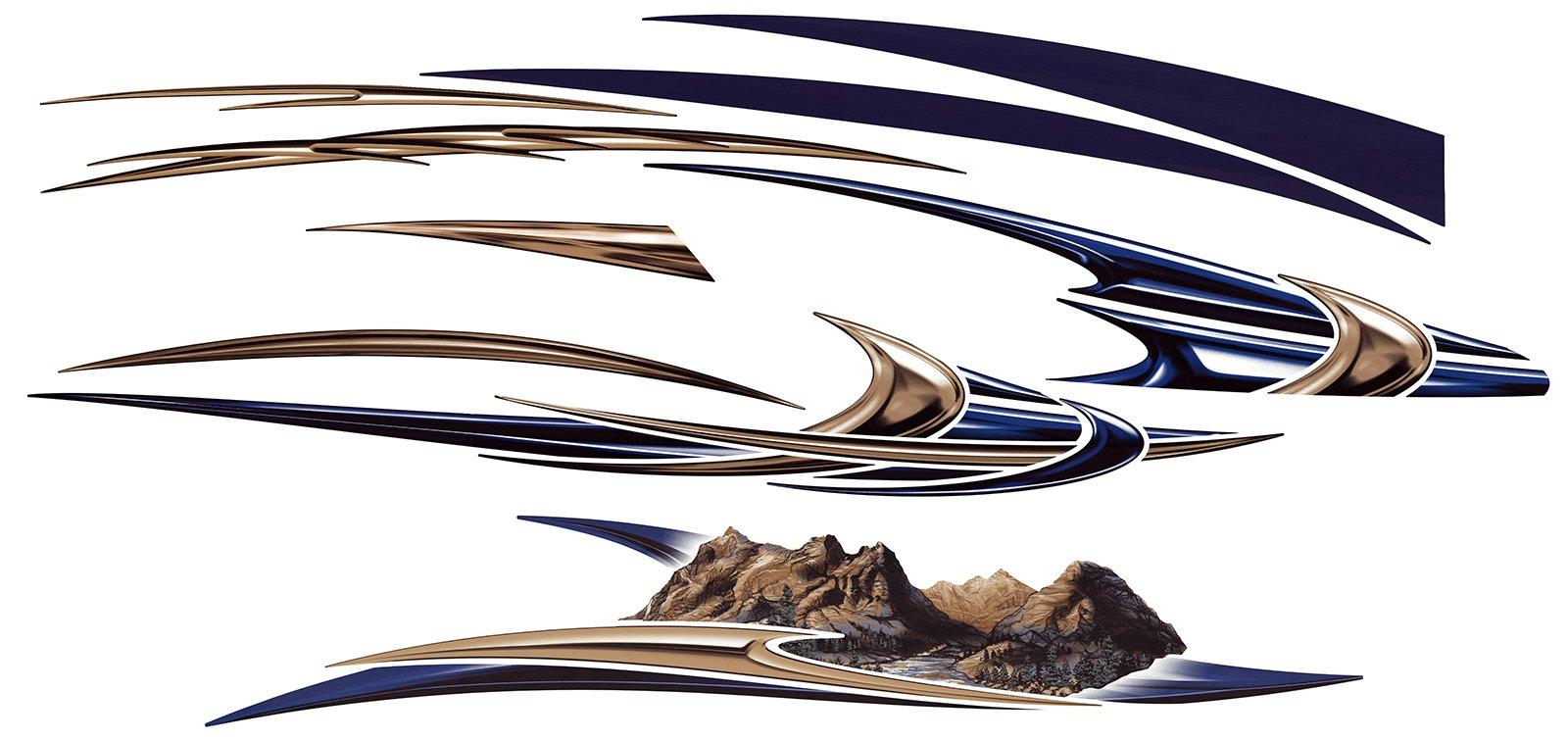 RV, Trailer, Camper, Motorhome Large Vinyl Decals/Graphics Kit-K-0006-2