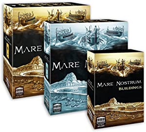 Academy Games Mare Nostrum - Empires w/Atlas Expansion and Buildings Pack Bundle