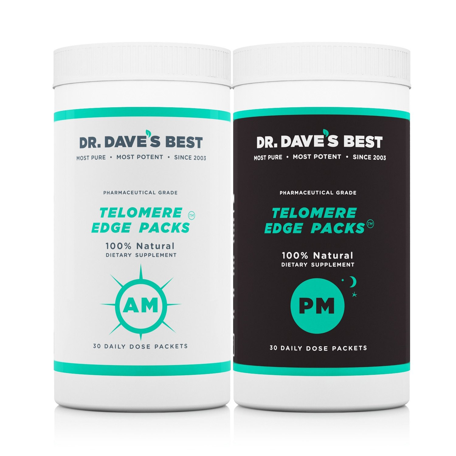 Dr. Dave's Best Telomere Edge Packs | 30 Day Supply | Complete Daily Nutrition Packs - Vitamins, Minerals, Omega-3s, Amino Acids, and Fish Oils | High Potency and Bioavailability