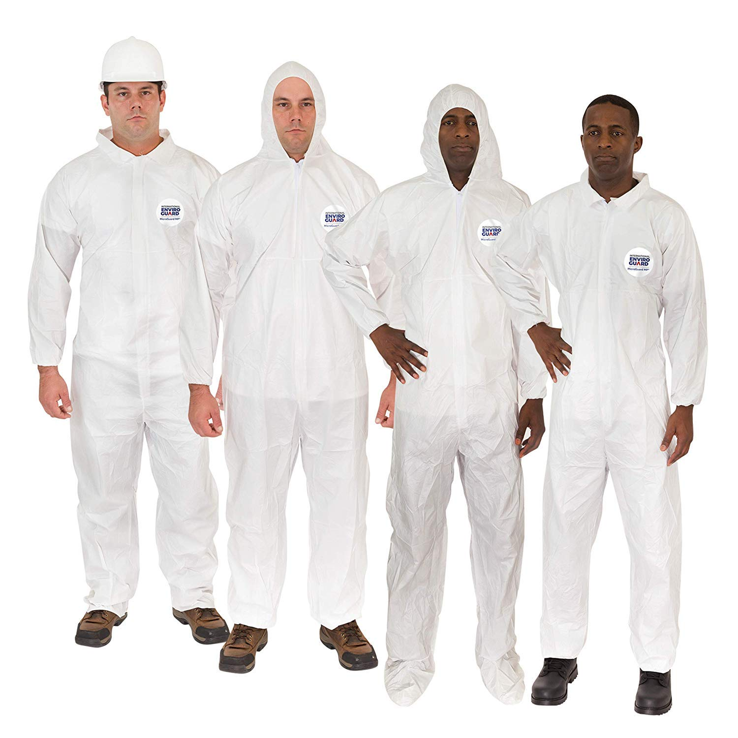 Microguard MP Microporous (White) | Particulate & Splash Protection/Disposable Hazmat Coverall with Elastic Wrist & Ankle for Paint and Particulates (XL, Case of 25) by Microguard MP (Image #2)