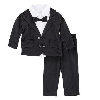 a9cbf90c00ddb BIG ELEPHANT Baby Boys Tuxedo Suit Formal Party Set Wedding Outfit E16 Size  70 (3