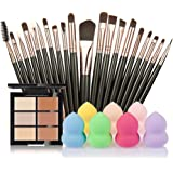 SMTSMT 2017 Super Soft 6-Color Concealer +20 Makeup Brush + Water Puff Puff Powder Puff