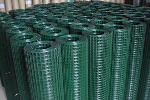 Welded Wire Mesh 0 9m X 10m Green Pvc Coated Steel Fencing