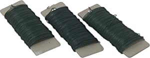 Green Flexible Paddle Wire for Wreath Tree, Garland, Floral Arrangements and Holiday Decorating -22 Gauge, Green - 330 Total Feet (3 Pack)