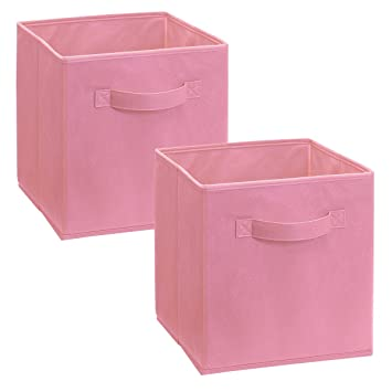 ClosetMaid 1468 Cubeicals Fabric Drawers, Pink, 2 Pack