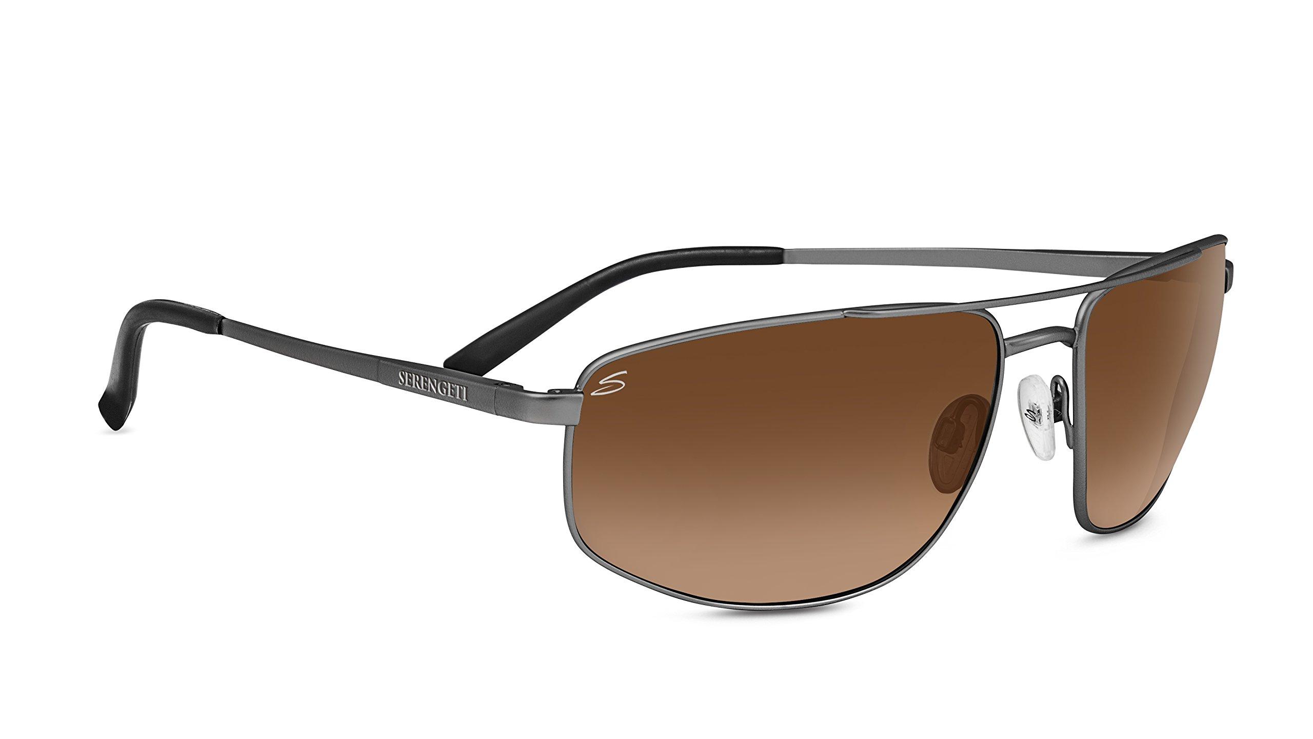 Serengeti Modugno Driver Gradient Sunglasses, Shiny Dark Gunmetal by Serengeti