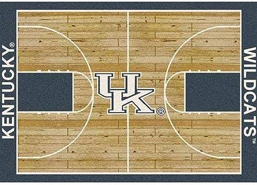 Milliken Kentucky College Home Court Area Rug, 10 9 x 13 2 , 01140 Court