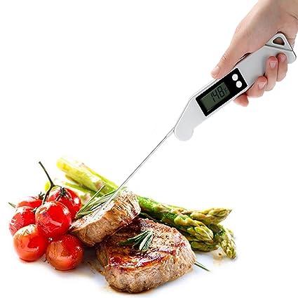 Termómetro digital, electrónica termómetro de alimentos Instant Lectura Termómetro Super Cocinar Termómetro Barbacoa Carne Termómetro