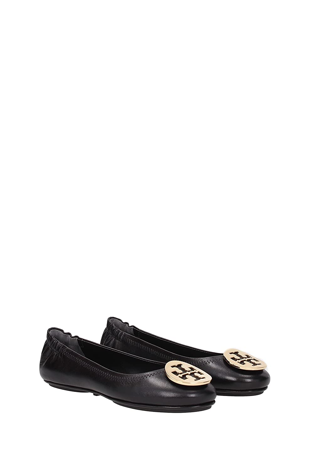 Amazon.com | Tory Burch Reva Shoes Ballet Minnie Travel Flats Soft Naplak  Leather TB Logo | Flats
