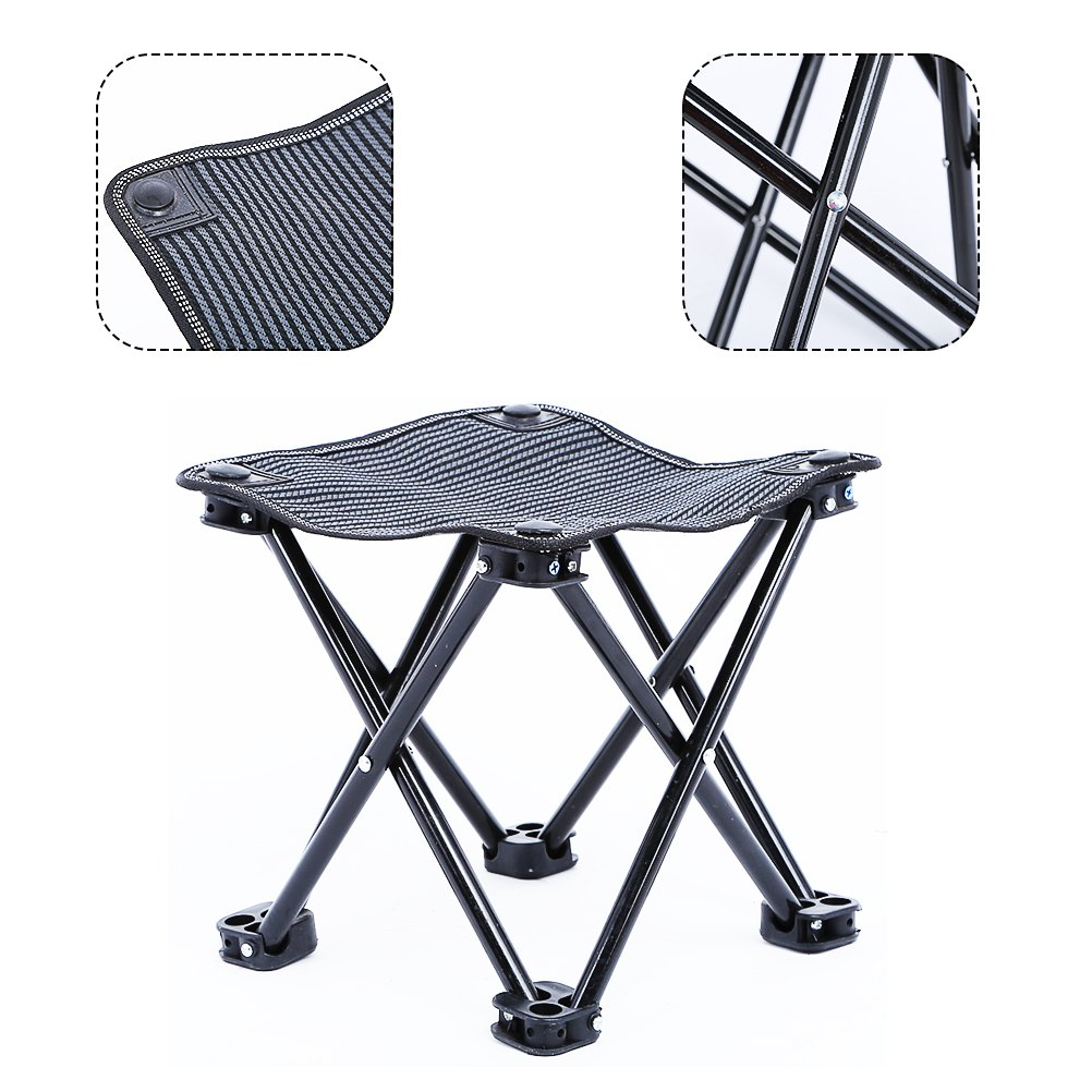 Outdoor Camping Stool for Fishing Travel Hiking Lightweight Sturdy Portable Stools with Carry Bag Bearing 220 lbs