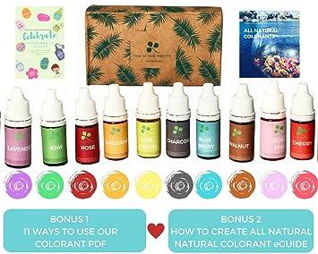 Amazon.com: 10 color Skin Safe Food Grade Soap Dye, Vegan, Gluten ...