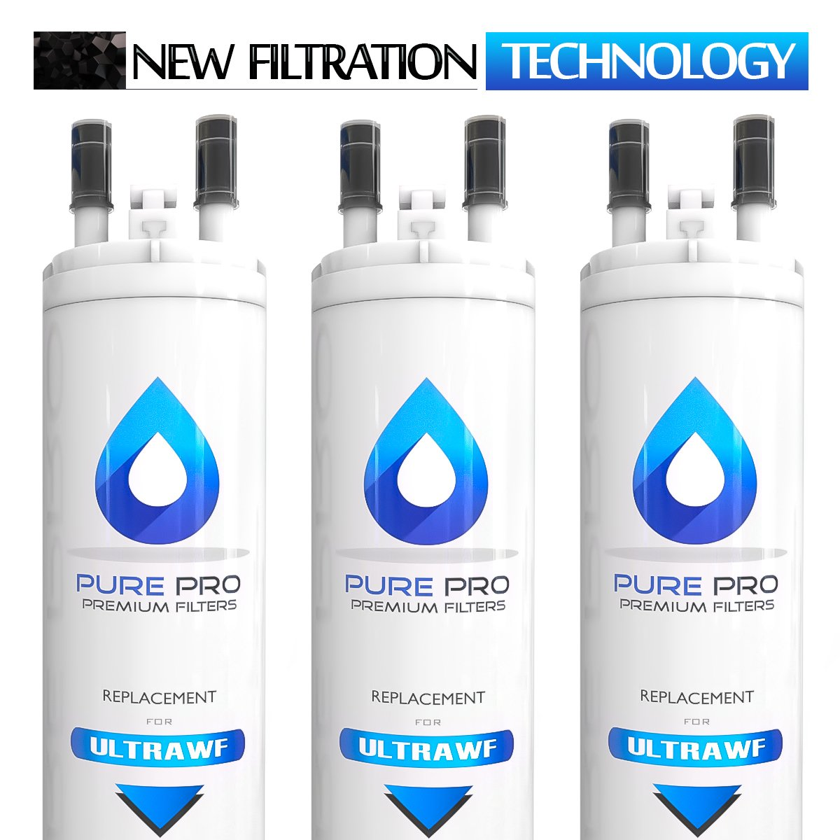 Pure Pro U|LTRAWF Compatible Refrigerator Water Filter (3-pack)