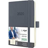 SIGEL C2037 Wochenkalender 2020, ca. A6, dunkelgrau, Softcover Conceptum - weitere Modelle