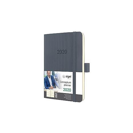 Amazon.com : SIGEL C2037 Weekly Diary 2020, Approx. A6, Dark ...