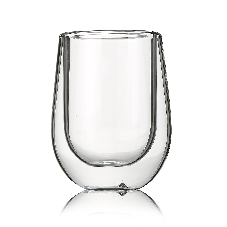 Resistente al calore pura mano soffiato borosilicato vetro isolante Vetro doppia tazza 200/ml Tea Repertoire