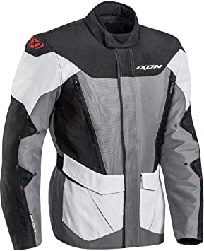 Ixon 2 en 1 chaqueta y Sicilia, Gris Negro Rojo Tamaño S: Amazon.es: Coche y moto