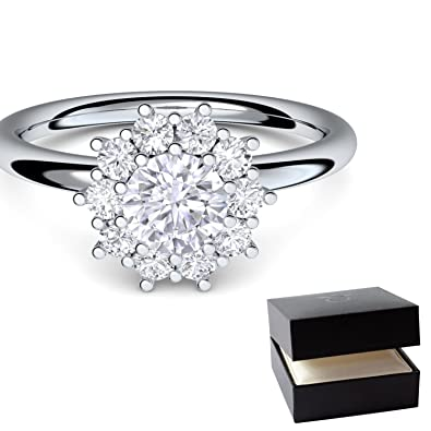 Amoonic Women 925 Sterling Silver Sterling Silver Ef Diamond Amazon