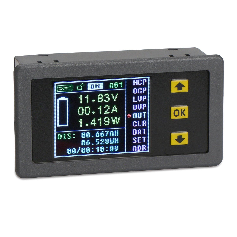 drok dc 120v 30a digital multimeter with relay wireless
