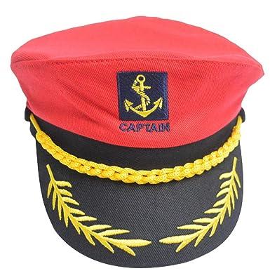 ecae6ac4f59 La Vogue Father and Son Yacht Cap Adjustable Sailor Captain Hat   Amazon.co.uk  Clothing