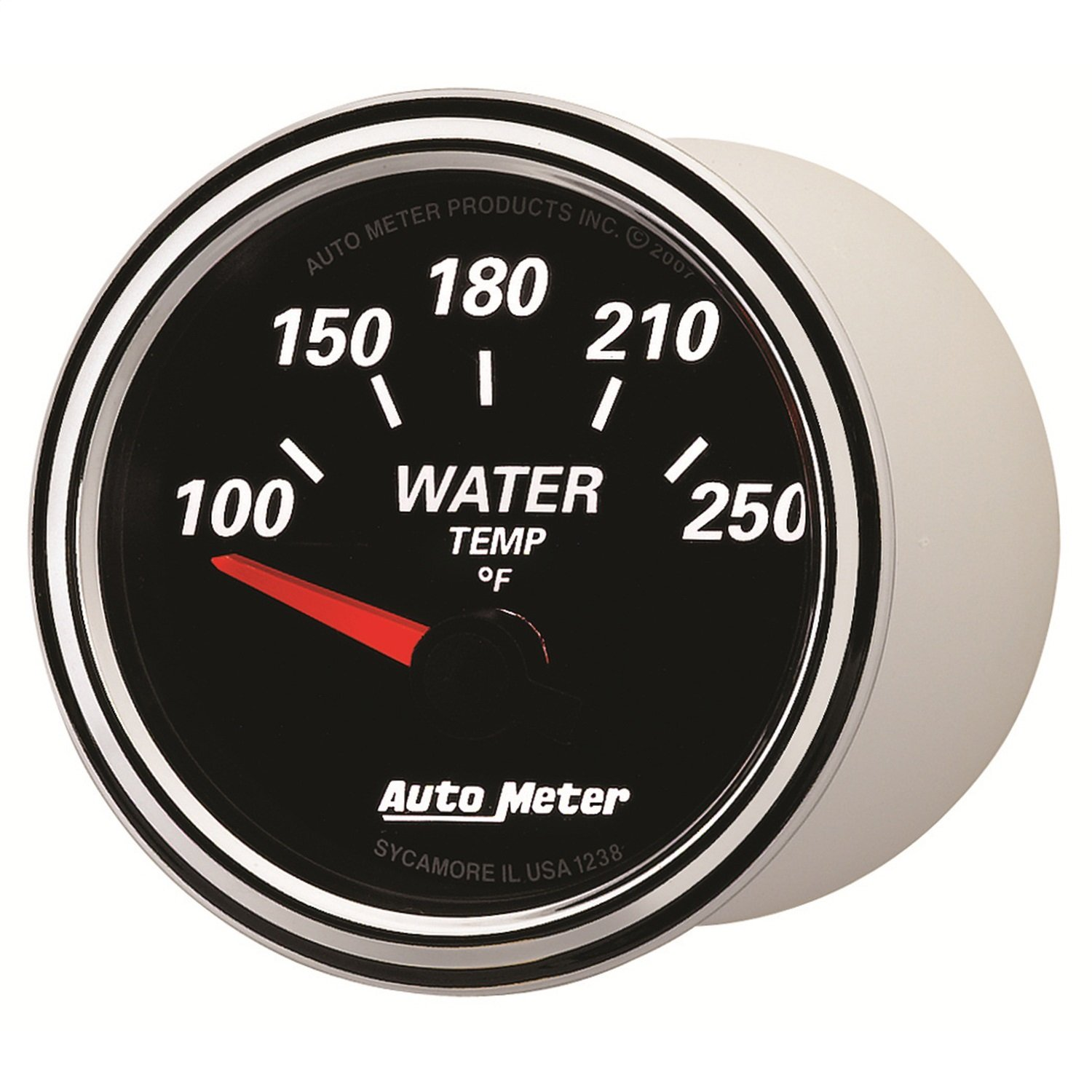 Auto Meter 1238 Designer Black II 2-1//16 Short Sweep Electric Water Temperature Gauge
