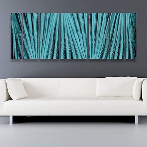 Main Attraction Hawaiian Blue Large Metal Wall Art