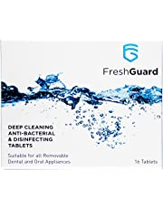 Fresh Guard Deep Cleaning Anti-Bacterial/Disinfecting Tablets, with Yeasticidal Efficacy for Dental/Oral Appliances.
