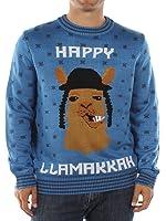 Tipsy Elves Men's Happy Llamakkah Hanukkah Sweater