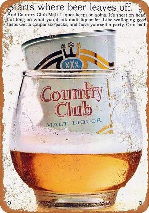 Country Club Malt Liquor Póster de Pared Metal Creativo ...