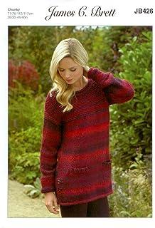 d14cea401 James C Brett JB243 Oyster Aran Knitting Pattern Ladies  Amazon.co ...