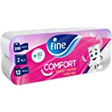 Fine, Sterilized Toilet Paper, Comfort, 200 sheets x2 Ply, pack of 12 rolls