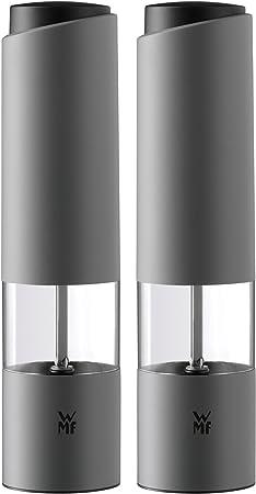Wmf Elektrische Salz Und Pfeffermühle Set 2 Teilig Unbefüllt Kunststoff Glas Keramikmahlwerk H 21 Cm Weiß Amazon De Küche Haushalt