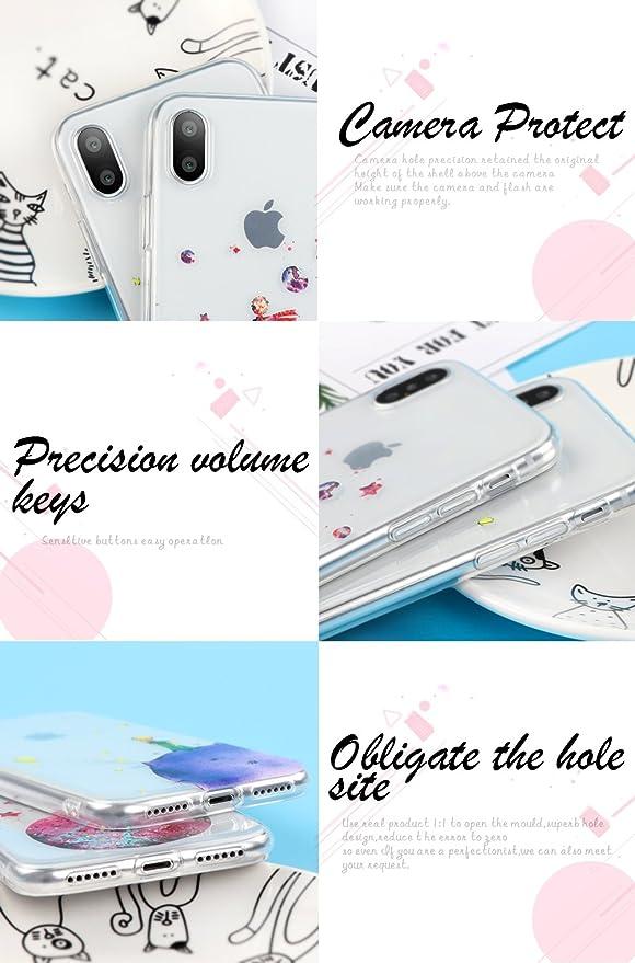 Funda iPhone 8, YOEDGE Ultra Slim Cárcasa Silicona Transparente con Dibujos Animados Diseño Patrón [El Principito] Resistente 360 Bumper Case Cover para ...