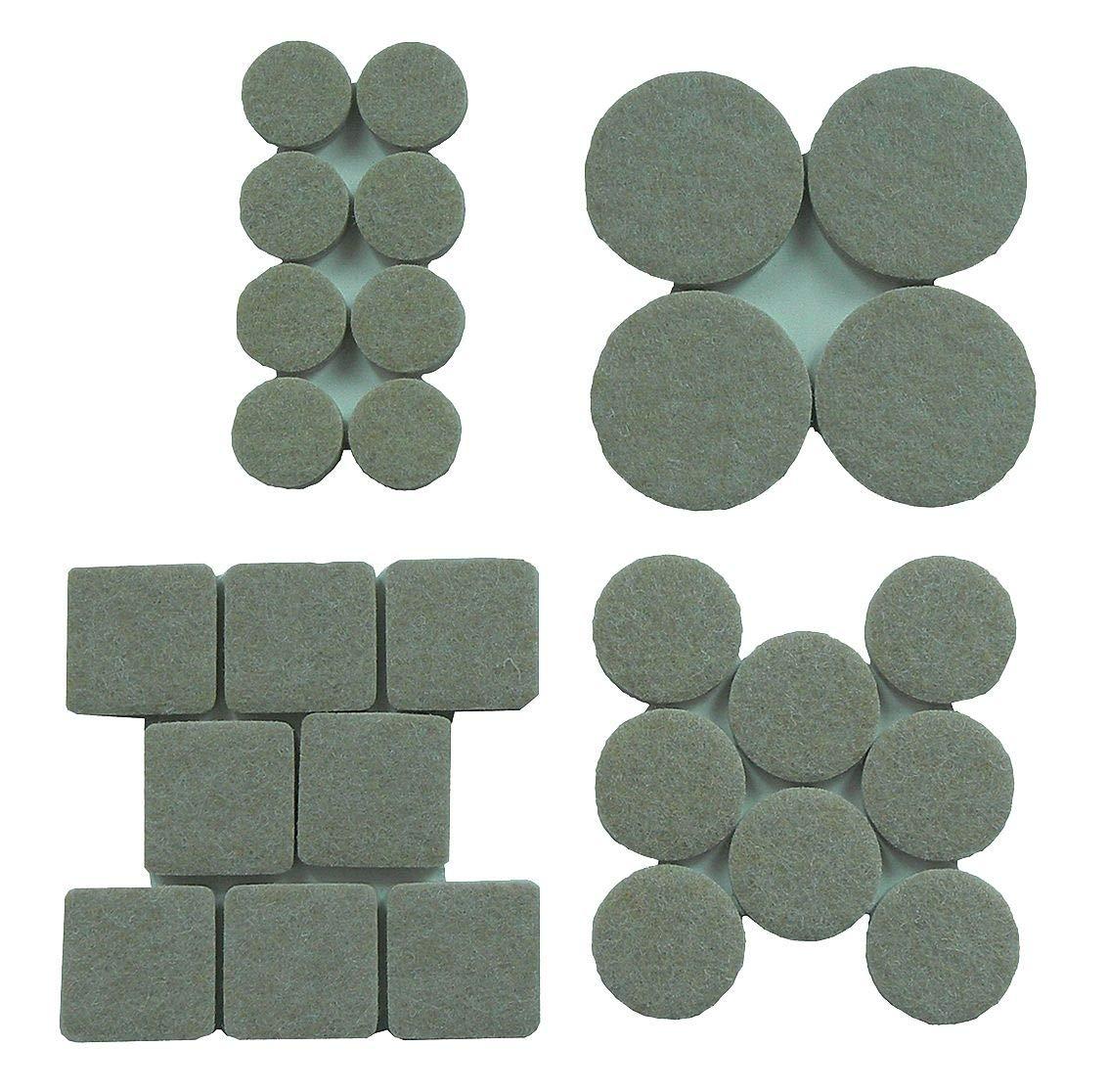 Round Self-Stick Adhesive Felt Pads, Tan, 2-1/2'' Dia., 4PK - 10J992 (Pack of 10)