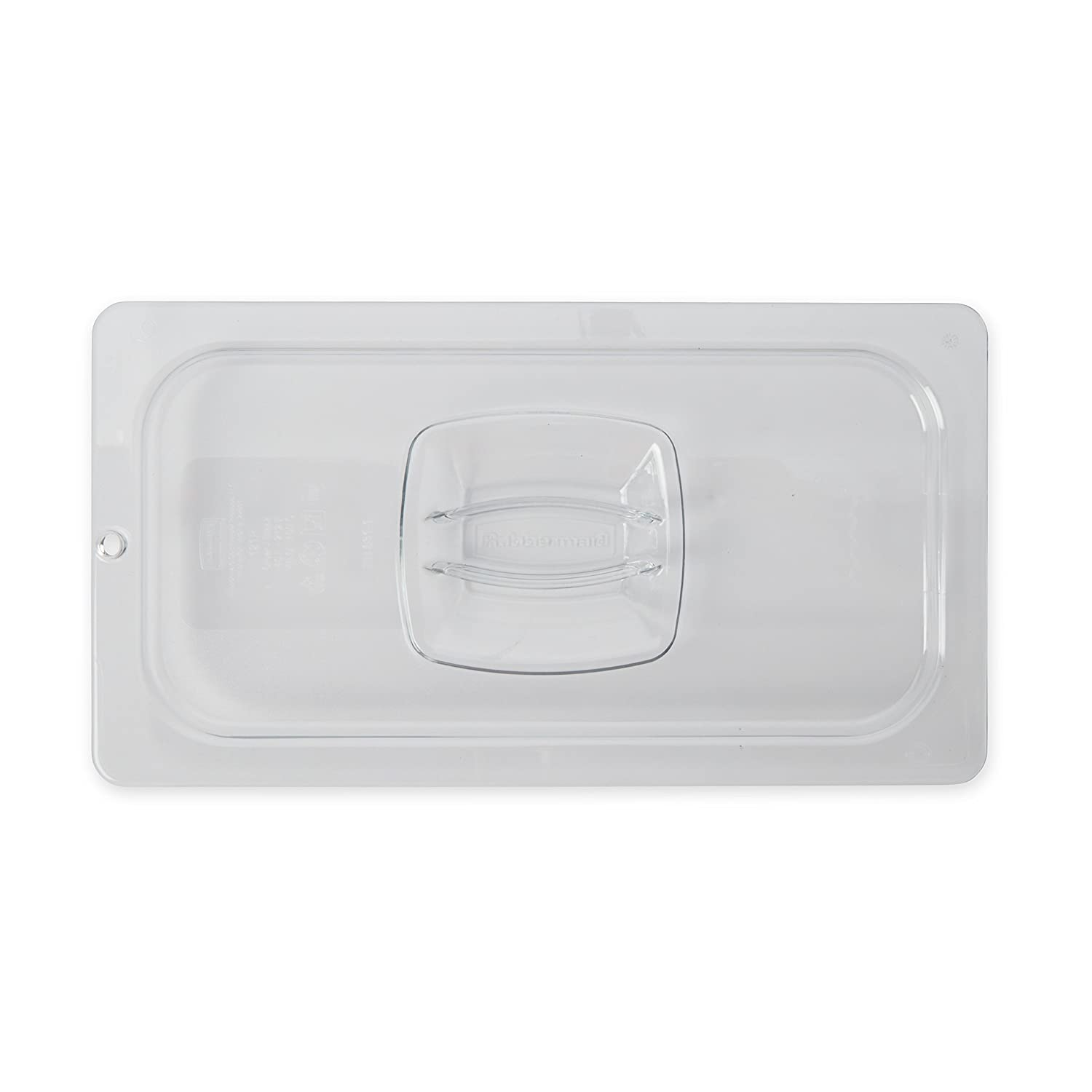 Rubbermaid Commercial Cold Food Pan Cover with Peg HoleCLR 1/3 Size (FG121P23CLR)