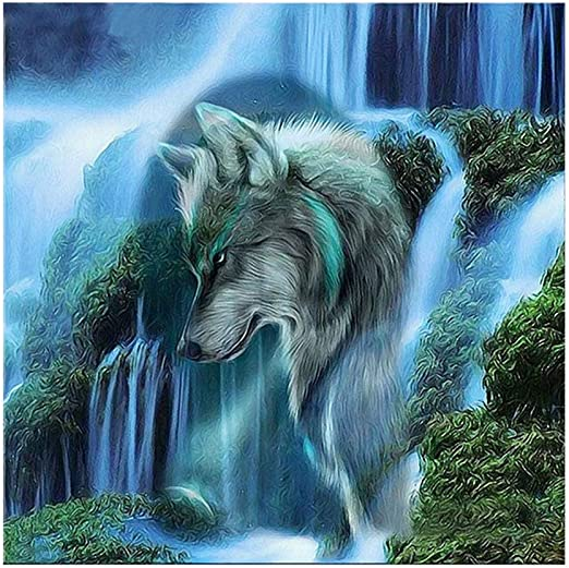 5D Diamond Painting Full Drill DIY Wolf Home Embroidery Cross Stitch Mosaic Kits