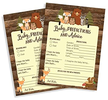 Advice Cards for Mommy Owl Baby Shower Set of 10