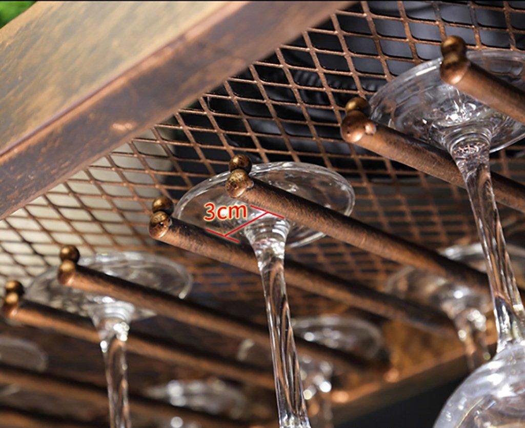 Bronze//Noir 60//80//100 MoDi Bouteilles de vin en Fer Porte-Bouteilles de vin Vintage /étag/ère de d/écoration de Bar Style Vintage Taille : 60 * 35cm 120cm Plafond casier a vin