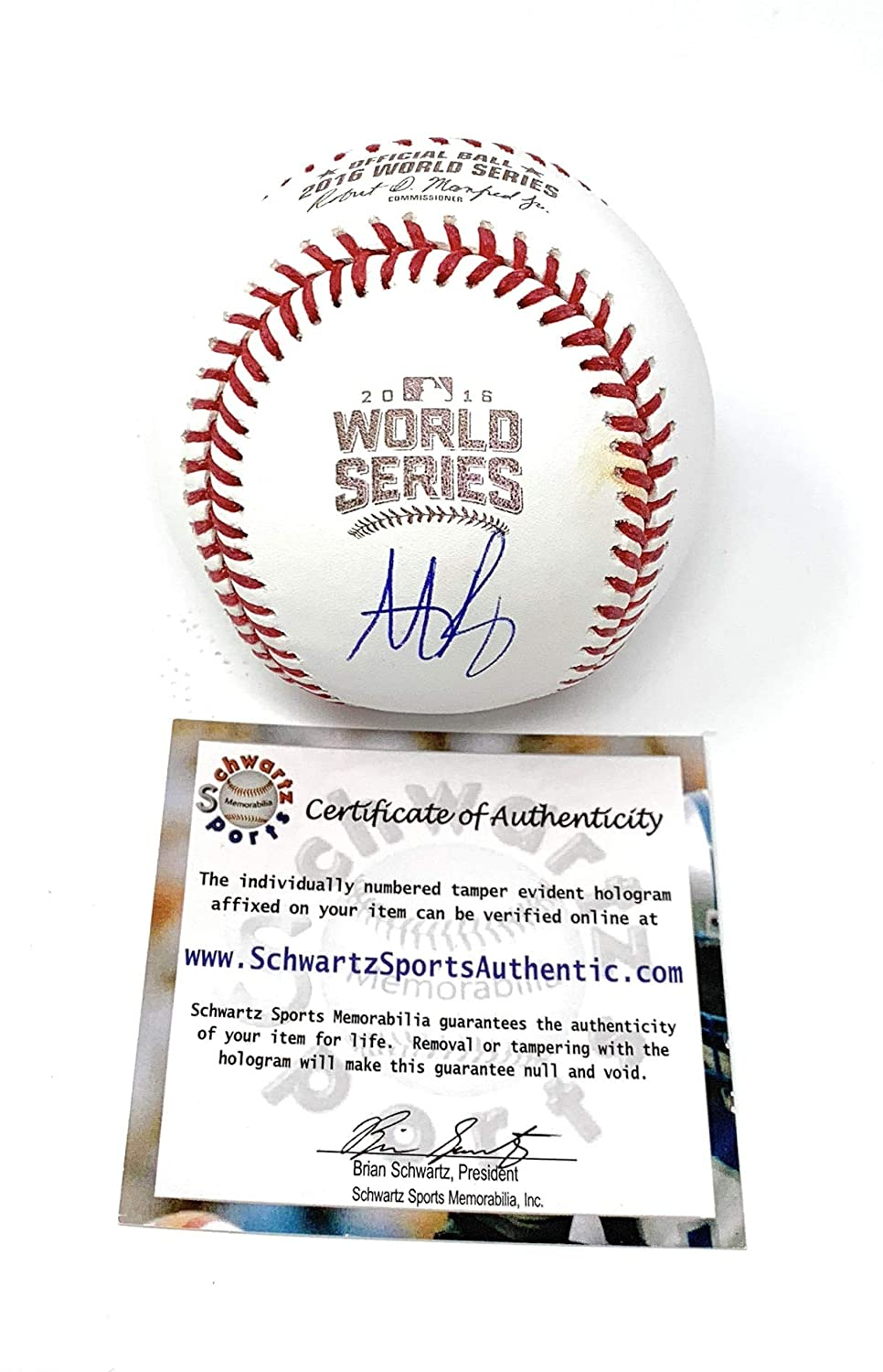 Anthony Rizzo Chicago Cubs Signed Autograph Official MLB Baseball Schwartz Sports Authentic Certified