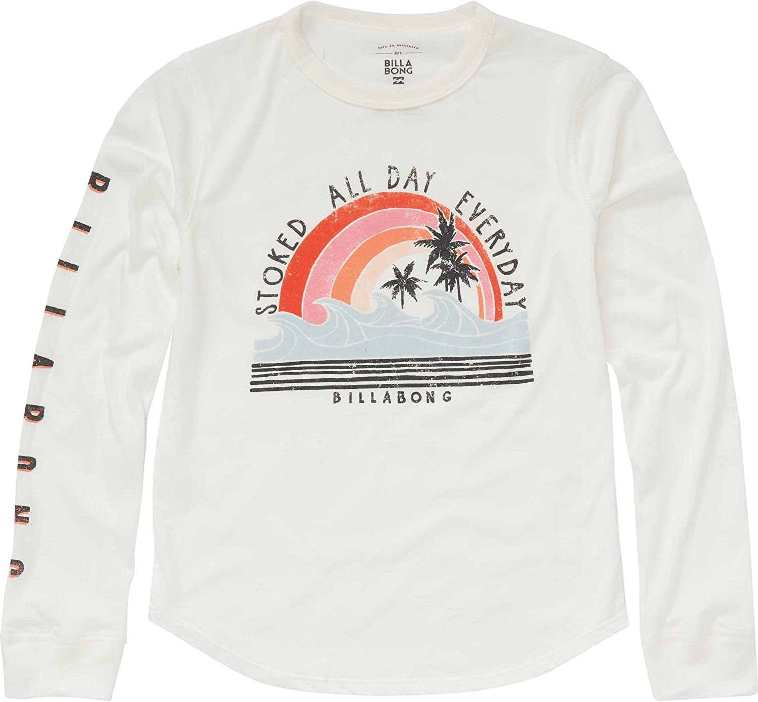 Billabong Girls Big Stoked All Day Long Sleeve Tee, Cool Whip, XXS: Amazon.es: Ropa y accesorios
