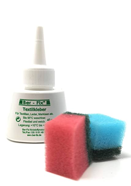 Ber Fabric Glue Washable With Free 2 Mini Sponge 4 X 40 Ml Amazon