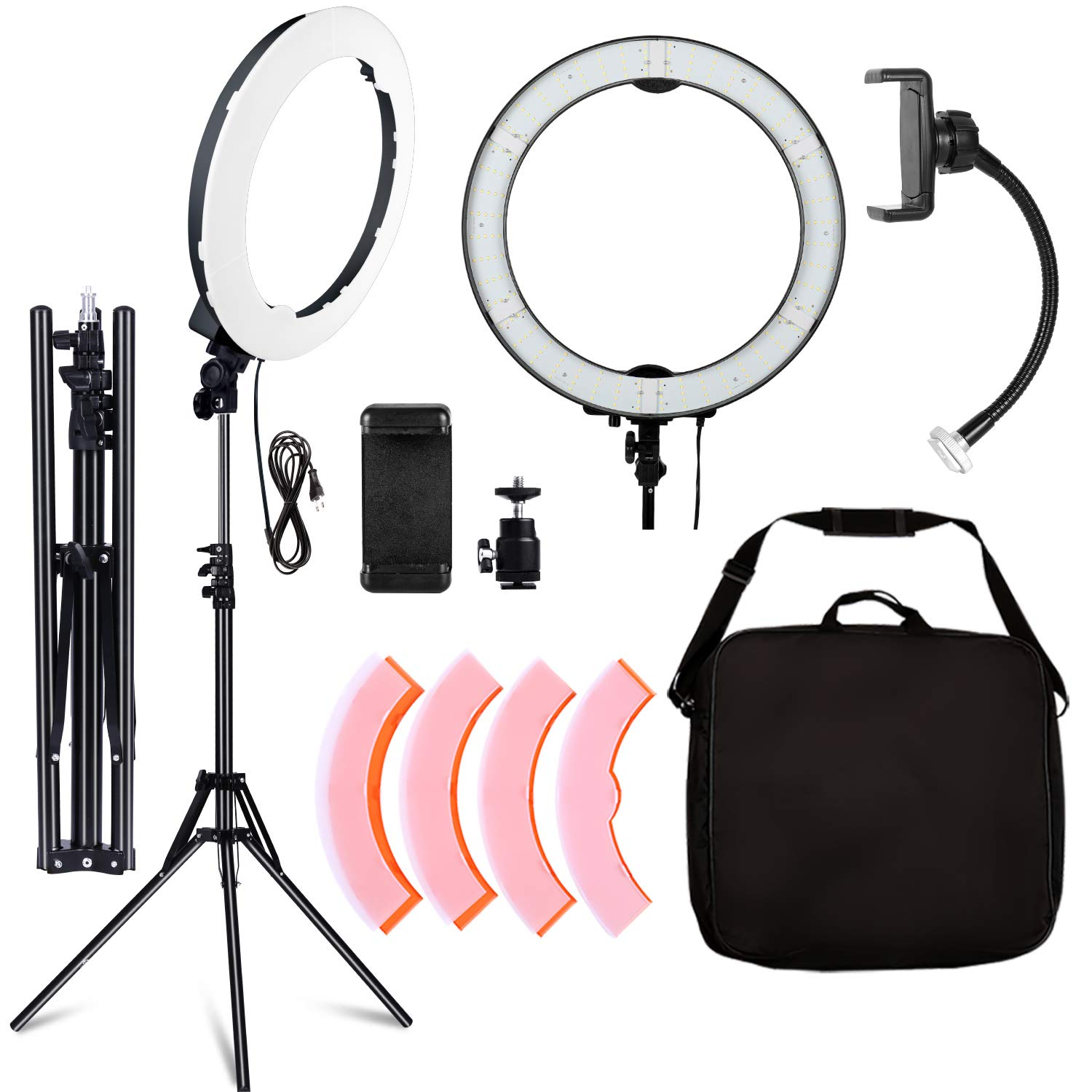 SH Camera Photo Video Lighting Kit: 20 inches/49 Centimeters Outer 55W 5500K Dimmable LED Ring Light, for Smartphone, YouTube, Vine Self-Portrait Video Shooting