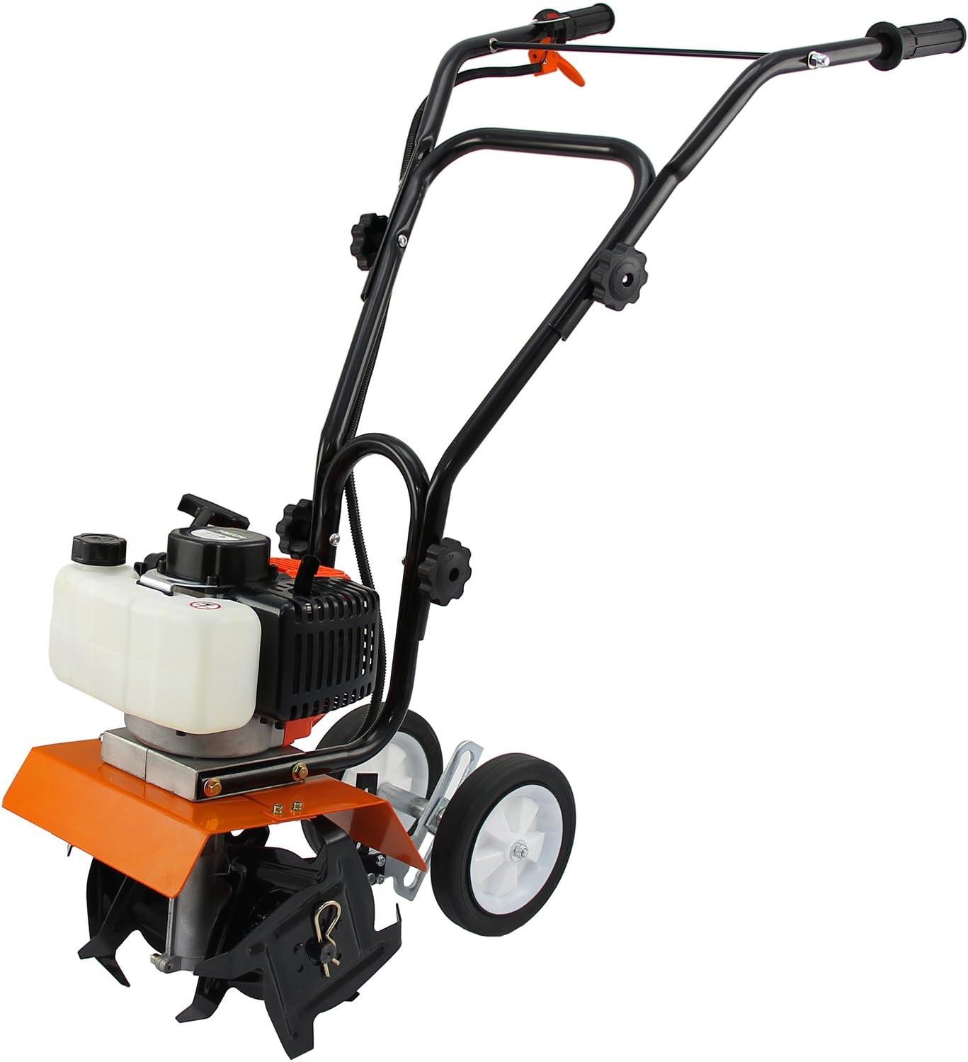 T-Mech Mini caña Motor Cultivador 52cc Gas Gasolina Jardín Rotovator Césped | CE certificación PPE