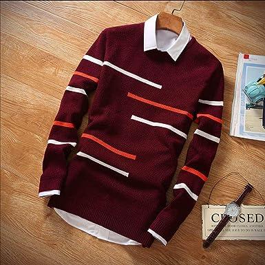 Suéter de Lana para Hombre y Mujer, suéter Casual con Cuello ...