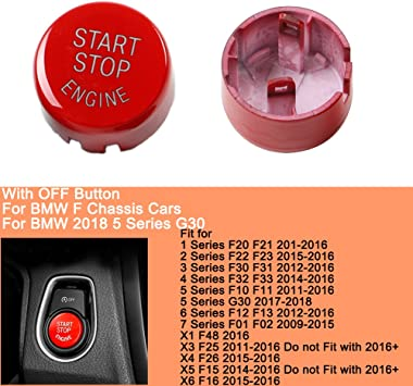 Stop Engine Rouge Pour BMW Bouton Start